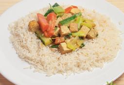 Verduras al curry con coco