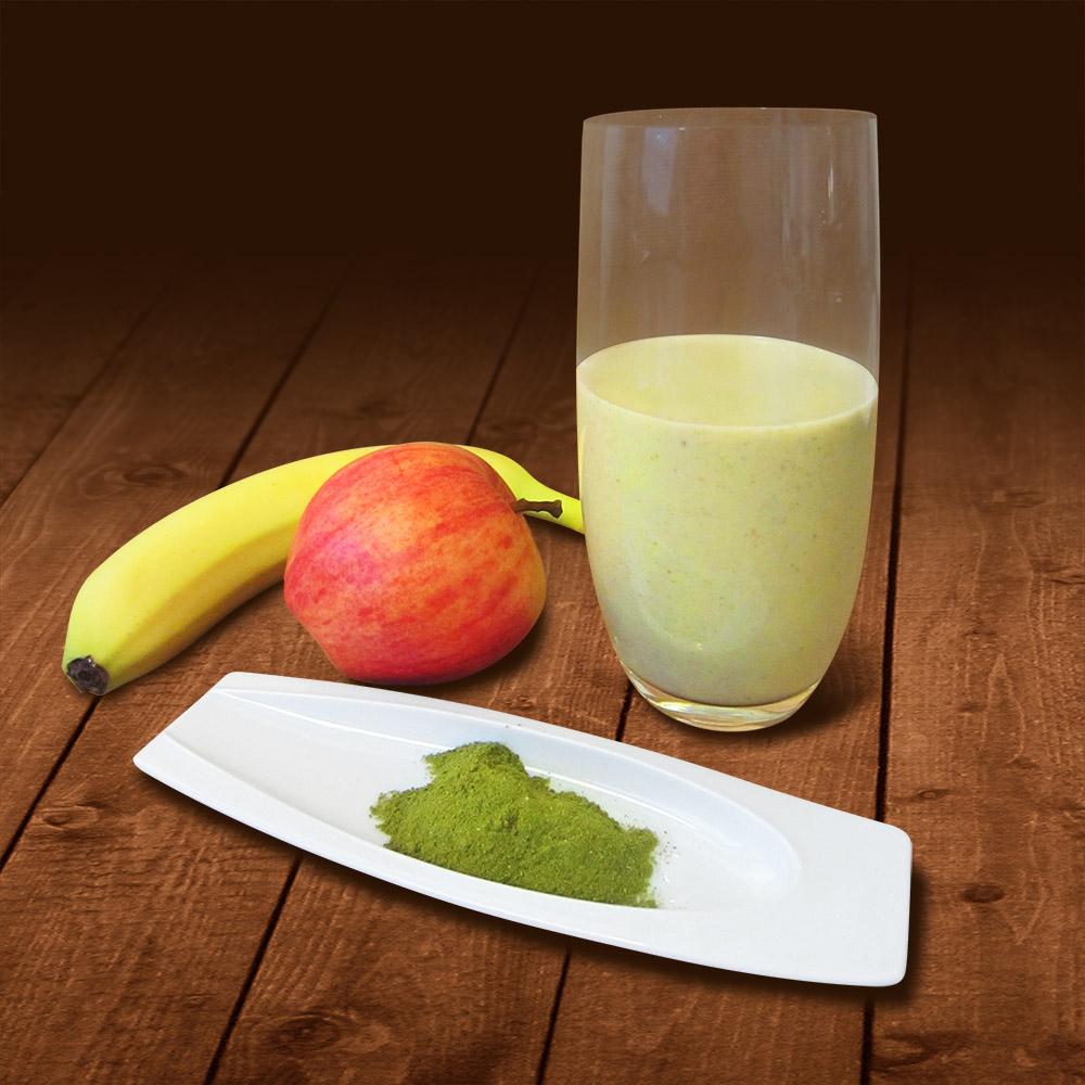 Apfel-Bananen-Smoothie mit Moringa