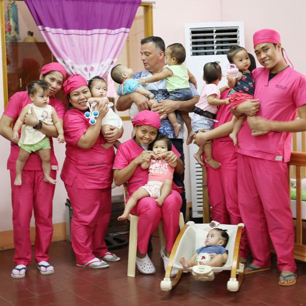 Die Säuglingsstation mit neuer Klimaanlage gesponsert von Dr. Goerg