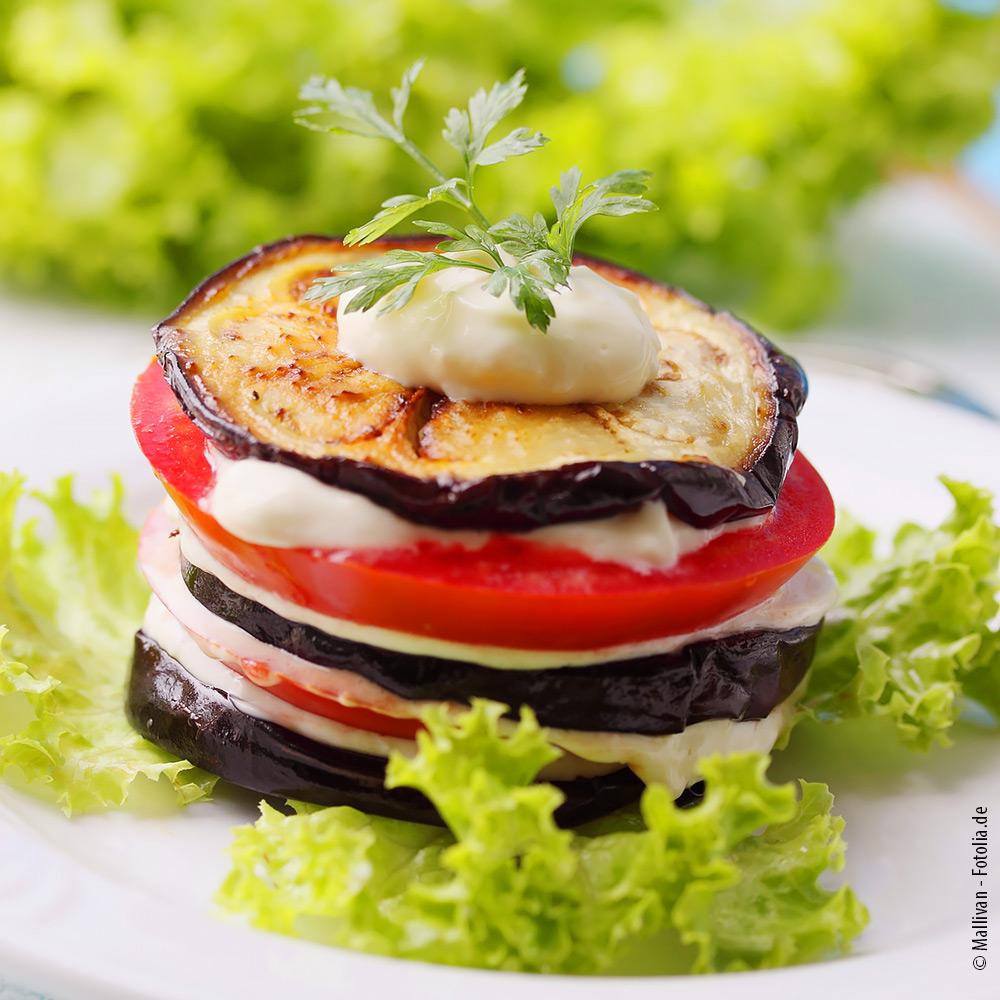 Deftige Auberginen-Tomaten-Sandwiches