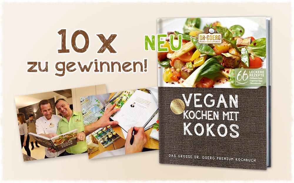 """Buchverlosung Dr. Goerg """"Vegan kochen mit Kokos"""""""