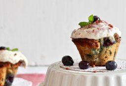 Blaubeer-Kokos-Cupcakes