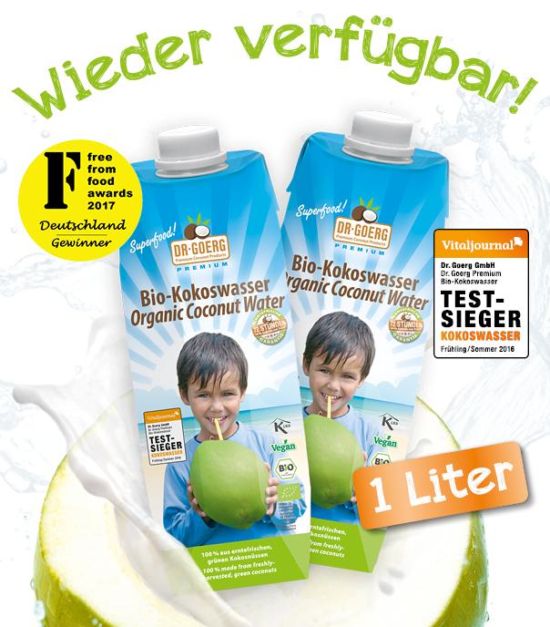 Kokoswasser 1L - back