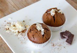Schokoladen-Muffins mit Kokosblütenzucker
