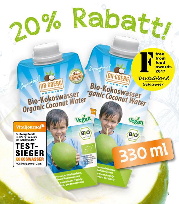 Kokoswasser 20 % Rabatt (330 ml) 02
