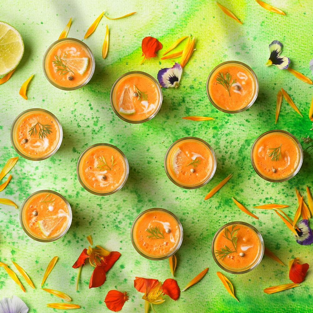 Rohvegane Kokos-Tomatensuppe