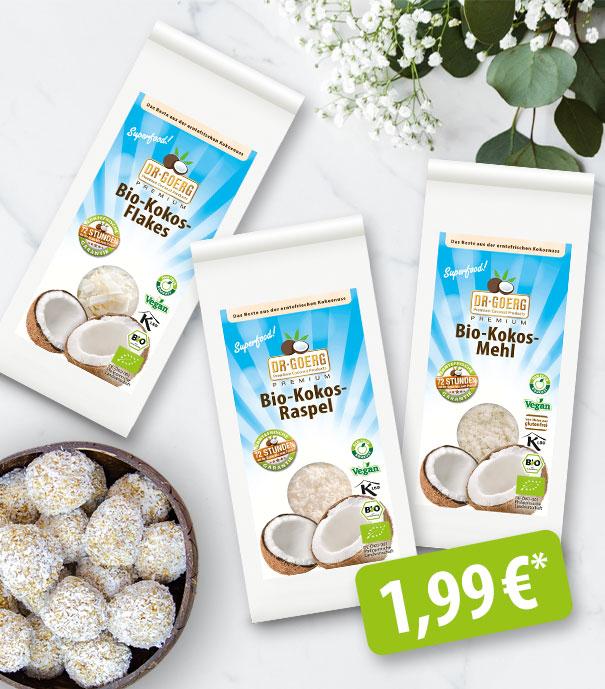 Singlegrößen Mehl, Raspel,Flakes 1,99 €