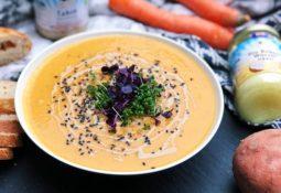 Süßkartoffel-Suppe mit Tahin