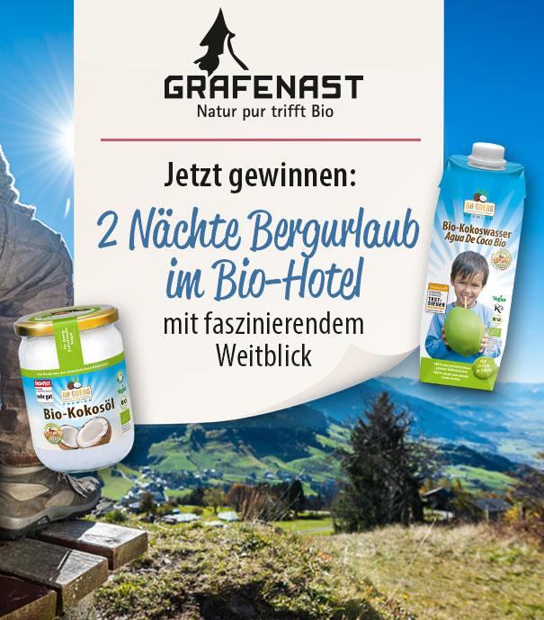 Gewinnspiel Bio-Hotel Grafenast
